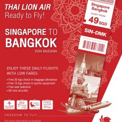 Thai Lion Air: Fly to Bangkok Don Mueang for as low as $49!