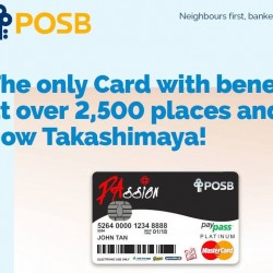 Takashimaya: 1% Cashback with Passion POSB Debit Card