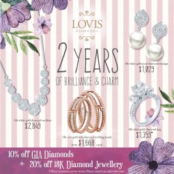 Lovis Diamonds: 10% OFF GIA Diamonds & 20% OFF 18K Diamond Jewellery