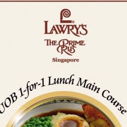 Lawry's The Prime Rib: 1-for-1 Lunch Main Course