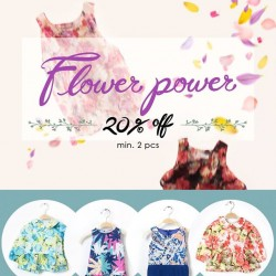 Camouflage Kids: 20% OFF for Flower Power