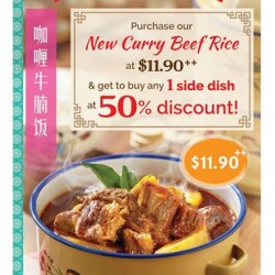 Curry Times: NEW Curry Beef Rice @$11.90-- Buy any 1dish at 50% OFF DISCOUNT