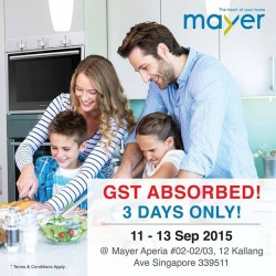 Mayer Marketing: GST Absorbed for 3 Days only