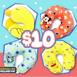 Mini Toons: Selected u-shaped cushions @only S$10 each