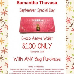 Samantha Thavasa: Croco Azayle Wallet $100 Only --- September Special Buy