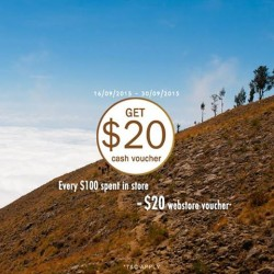 Outdoor Life: Get $20 Cash Voucher Every $100 Spent in Store