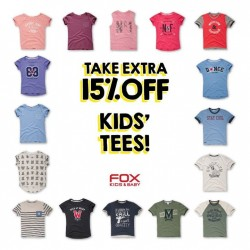 Fox Fashion: Take Extra 15% OFF Kids Tees