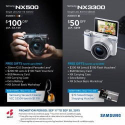 Go.BestDenki: Samsung NX500 and NX3300 Single Lens Kit (16-50mm)