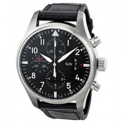 eBay: IWC Pilot Black Dial Chronograph Automatic Mens Watch