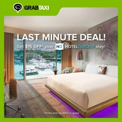 GrabTaxi: $15 OFF HotelQuickly stay