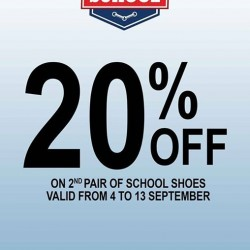 Bata: School shoes @20% OFF on 2nd pair