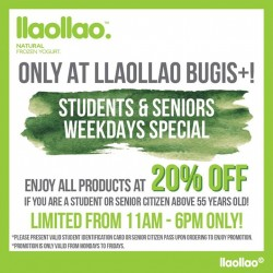 Llaollao: Students & Seniors Weekdays Special