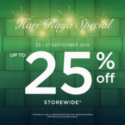 Royal Sporting House: Hari Raya Special @Take 25% OFF Storewide