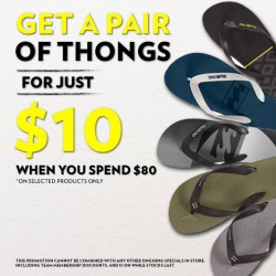 Isetan: Billabong thongs @$10
