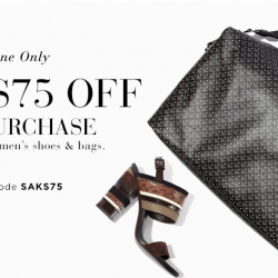 Saks Fifth Avenue: $75 OFF your $350 Purchase for Shoes and Bags