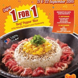 Pepper Lunch: 1-for-1 Beef Pepper Rice @100% OFF Beef