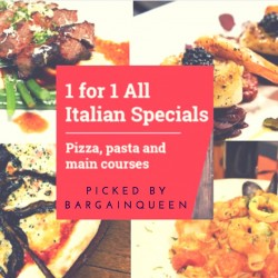 Hungrygowhere: 1 for 1 Italian Specials for September