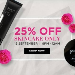 Luxola: 3 hours only --- 25% OFF Skincare