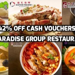 Groupon: 42% off Cash Vouchers for Paradise Group Restaurants