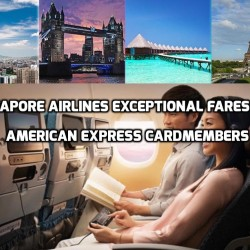 Singapore Airlines: Exceptional Fares for Amex Cardmembers