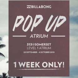 Billabong: Pop Up Atrium at 313@Somerset