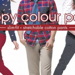 Bossini: Happy Colour Pants $10 every 2nd pc (UP $49)
