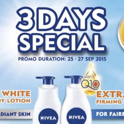 Nivea: 3 Days Special - 35% OFF Body Lotions