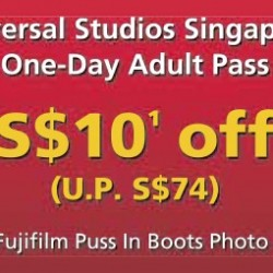 Universal Studios Singapore: $10 off One-Day Adult Pass with Mastercard