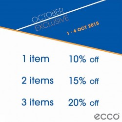 ECCO Shoes: Exclusive October offer (Till 4 Oct 2015)