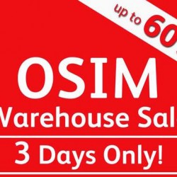 OSIM: Warehouse Sale up to 60% OFF