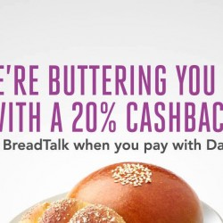 BreadTalk: Get 20% Cashback when you pay with Dash