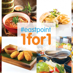 Eastpoint Mall: 1-for-1 Lunch Deals