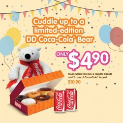 Dunkin' Donuts: Cuddle up to a Limited-Edition DD Coca-Cola Bear @ $4.90