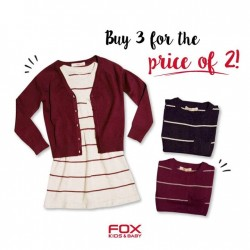 Fox Fashion: Buy 3 for the Price of 2