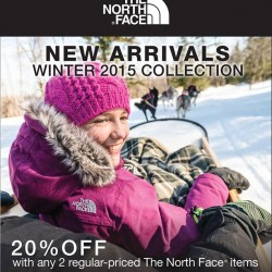 The North Face: 20% OFF with Any 2 Regular-Priced