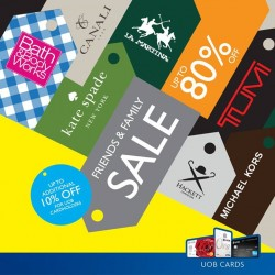 UOB: Your Favourite Brands @80% OFF-- Valiram Friends & Family Sale.