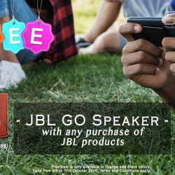 Stereo: JBL GO Speaker with any Purchase of JBL Products