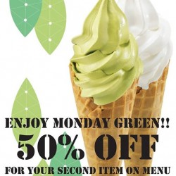Tsujiri: Monday Green @Take 50% OFF On Second items.