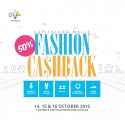 Westgate: Fashion Cash back @50% OFF.