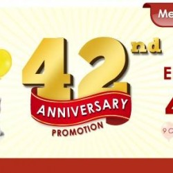 Pet Lovers Centre: Up to 42% Discount for 42nd Anniversary Promotion
