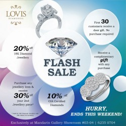 Lovis Diamonds: Diamond Flash Sale--Mandarin Gallery Showroom.