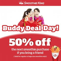 Smoothie King: 50% OFF Buddy Deal Day