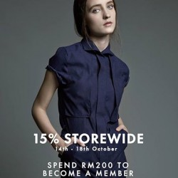 MDSCollections: 15% OFF Storerwide -- Spend RM200 to Become a Member