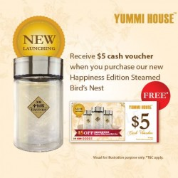 Yummi House: Steam Bird's Nest @$5 cash voucher