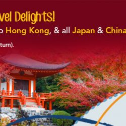 ZUJI: Flash Sale to Hong Kong, & All Japan & China Cities from $186 (Return)!