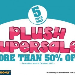 Mini Toons: 50% OFF Plush Super Sale for 5 Days only