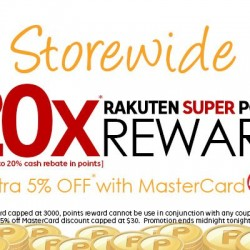 Rakuten: Up to 20X Rakuten Super Points Reward + Extra 5% OFF with MasterCard