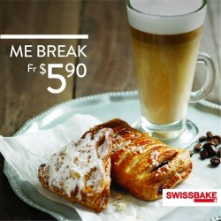 Swiss Bake: Cake, Muffin, Pie, Danish or sScone + Coffee or Tea @$5.90(2pm - 6pm).