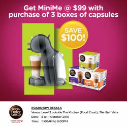 The Star Vista: MiniMe @ $99 with Purchase of 3 Boxes of Capsules