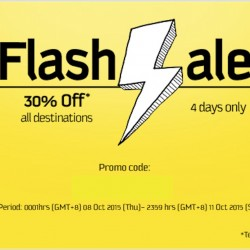 FlyScoot: Flash Sale 30% OFF All Destinations